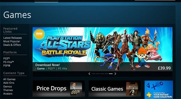 Sony Entertainment Network web store launching in Japan on