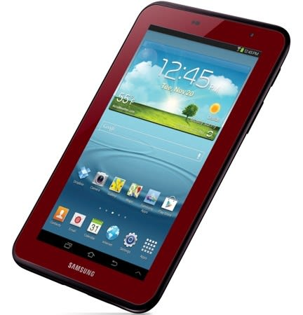 samsung outs garnet red edition galaxy tab 2 7 0 in the us prices