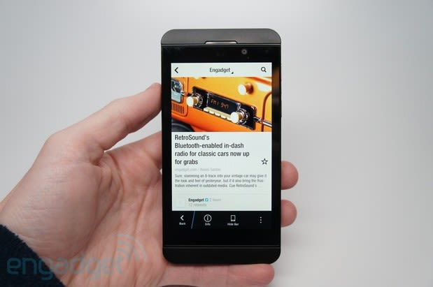 Back to BlackBerry: a whole new UI world