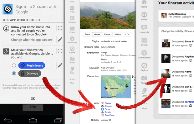 Google+ Sign-In lets you use account info across iOS