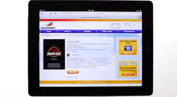 Southwest Airlines' on-demand WiFi video reaches all capable