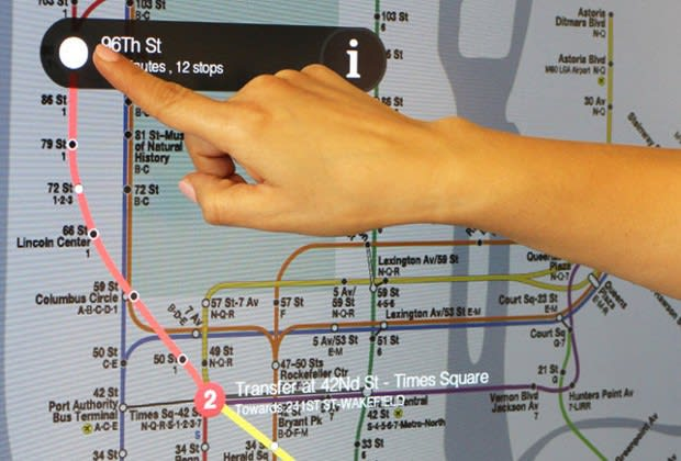 Subway Map Times Square.Nyc S First Touchscreen Subway Maps Are Ready To Guide You Through