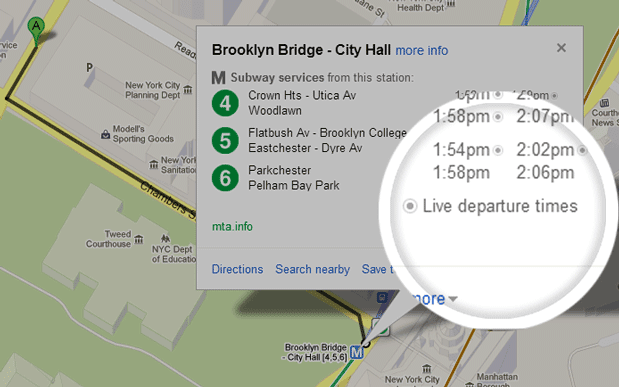 Google New York Subway Map.Google Maps Now Delivering Live Transit Info In New York Dc And