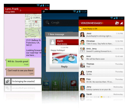 Verizon Messages extends unified SMS and MMS to Android, iOS