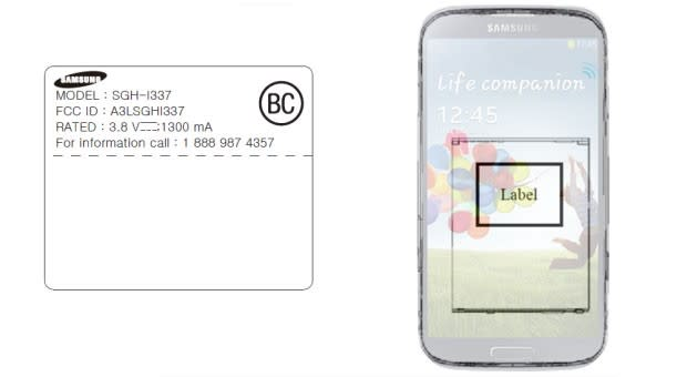 Samsung Sgh I337 Hits Fcc With Att Lte Bands Fits The Gs 4 Profile