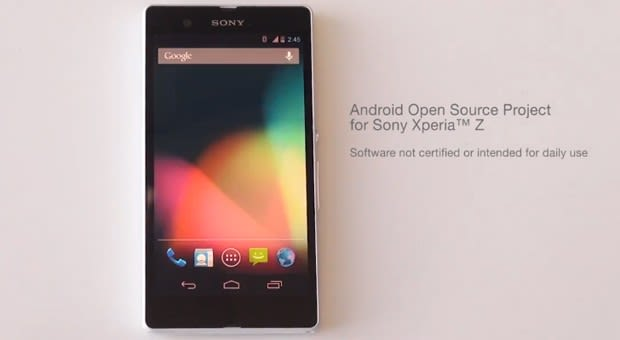Sony posts its first AOSP build for the Xperia Z (video)
