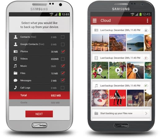 Verizon Cloud backup service rolling out for Android, comes