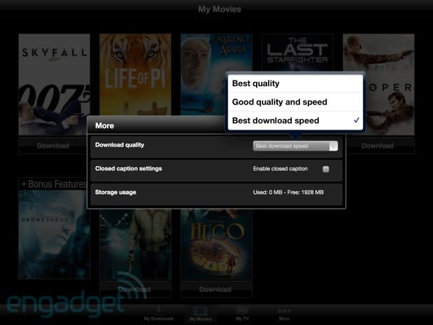 Vudu Player update allows movie downloads on iPhone, iPad