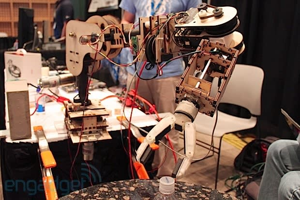 Columbia University's low-cost robotic arm is controlled by facial