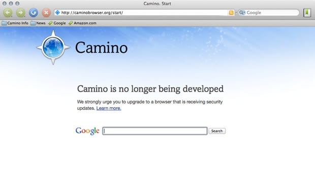 Camino web browser for Mac meets a quiet end