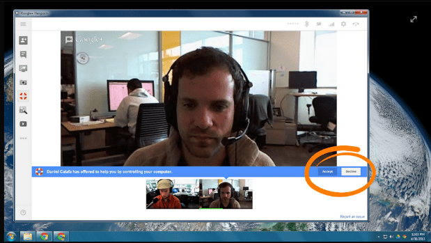 Google Hangouts add remote desktop control, let you play tech support