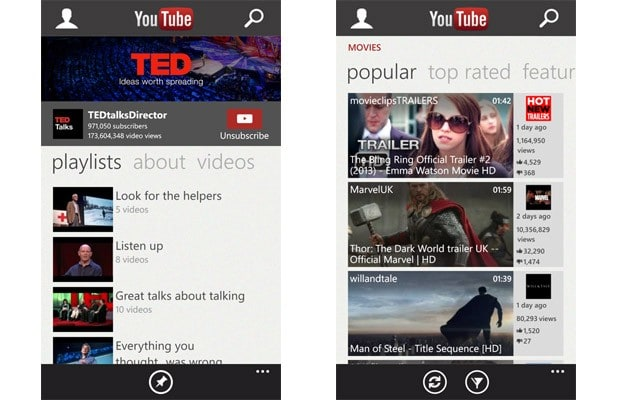 Microsoft updates YouTube app for Windows Phone, addresses
