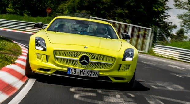 There S No Question That The Sls Amg Electric Drive Is Faster Than Most Evs However Mercedes Benz Wants To Prove Car Fast In Any Category