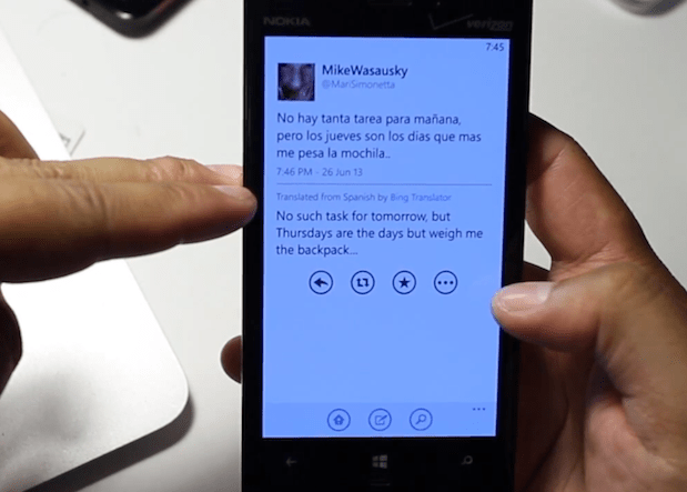 Bing Translator comes to Twitter's official Windows Phone app