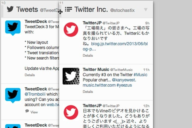 TweetDeck for Chrome and web gets drag-and-drop columns