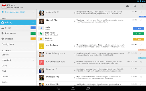 Gmail for Android update sees widespread rollout, new inboxes for all