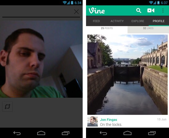How to upload a video to vine from gallery on android