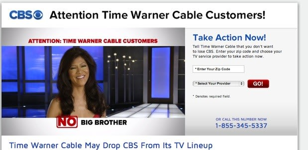 Time Warner Cable drops CBS in NYC, LA and Dallas (update