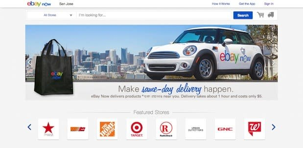158d05be5392 eBay s same-day delivery service has been highly focused on mobile since  its very early days