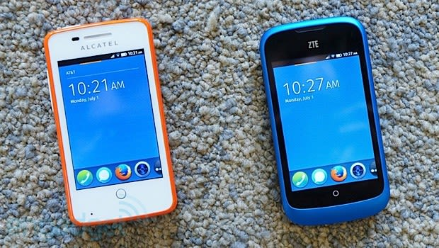 Firefox OS hands-on: Alcatel OneTouch Fire and ZTE Open (video)