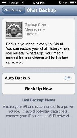 Whatsapp for iOS updated with multiple photo support, iCloud chat history backup