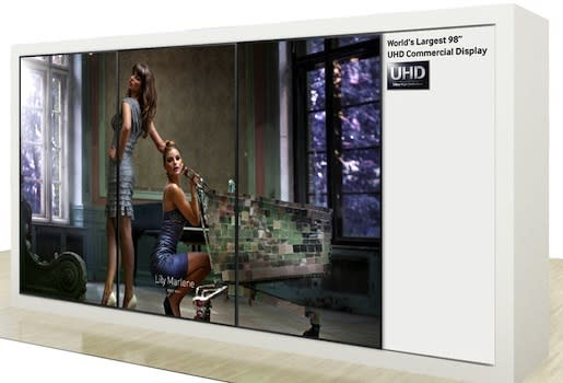 Samsung to show off 98-inch Ultra HD video wall, 31 5-inch 4K