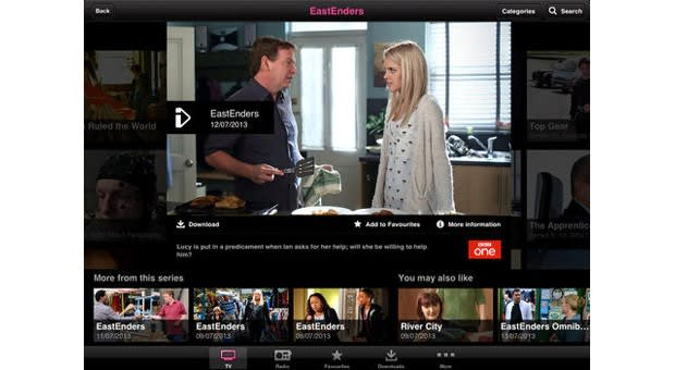 downloading programs from bbc iplayer to ipad