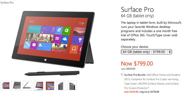 Microsoft slashes Surface Pro price for the month of August
