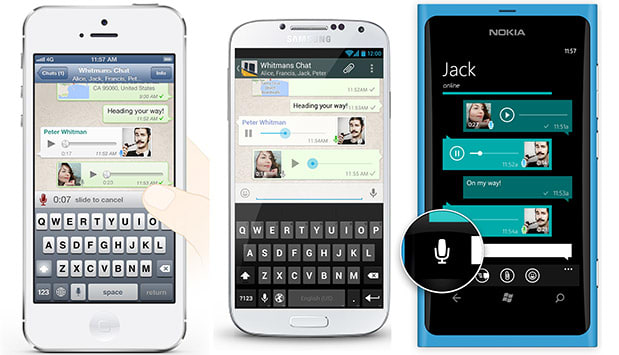 WhatsApp voice messaging updated with one-press record-and