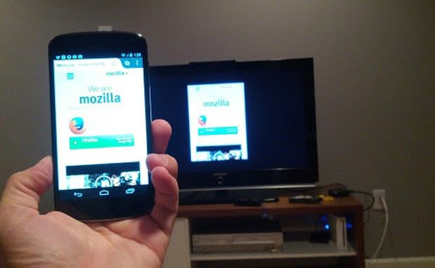 Mozilla working on Chromecast-like mirroring for Firefox