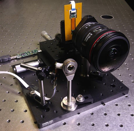 UCSD engineers develop mini wide-angle lens that's ten times smaller