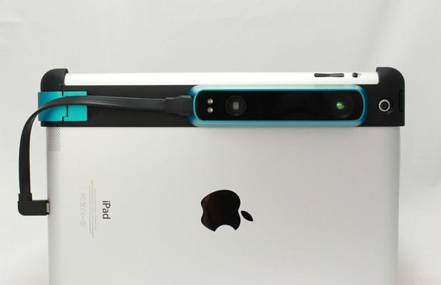Occipital's Structure Sensor clamps onto your iPad for 3D scanning