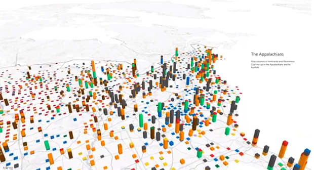 Excel's Power Maps take bar graphs to some new and mildly