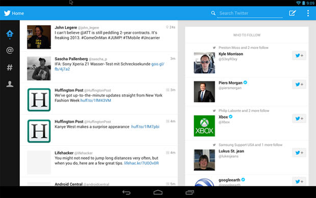 Tablet-optimized Twitter app leaks after IFA, works best on