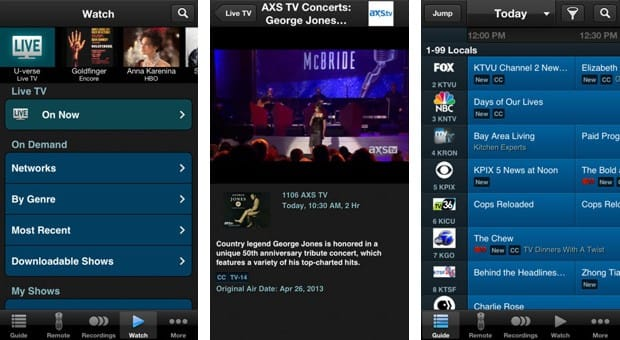 U-Verse live TV streaming comes to iPhone