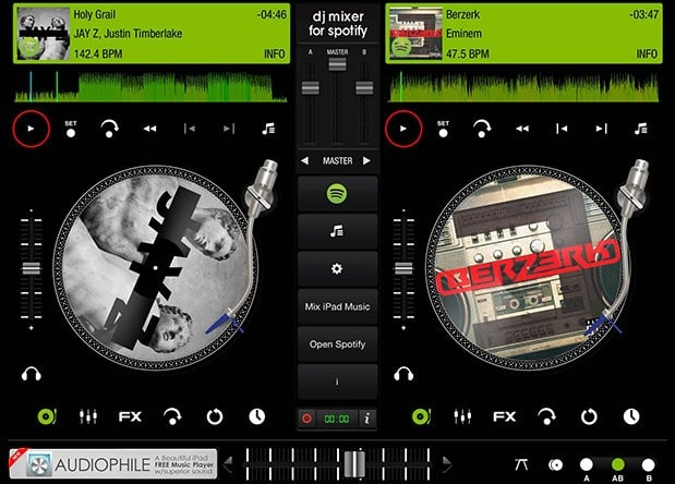 iPad app lets you create DJ mixes from Spotify playlists