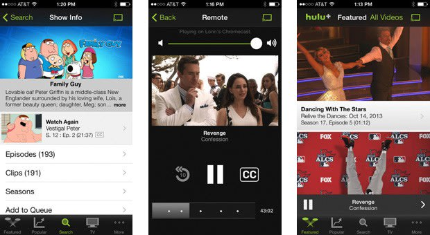 Hulu Plus app for iPhone now supports Chromecast streaming