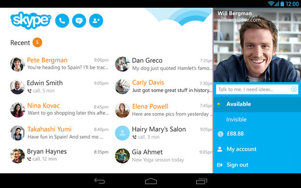 Skype for Android scores enhanced video call quality, new UI