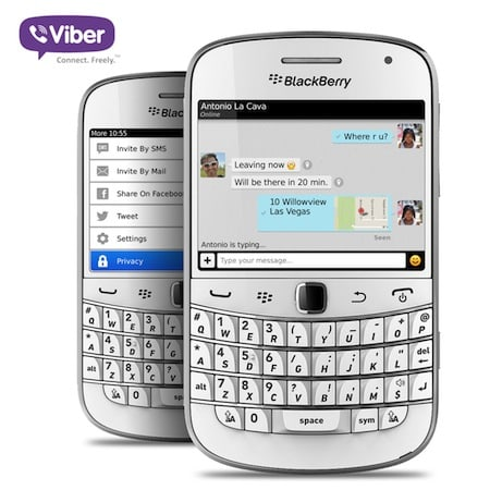 Viber enhances BlackBerry app with new features, minor