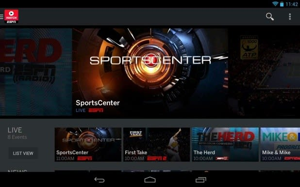 Overhauled WatchESPN app for Android brings Monday Night