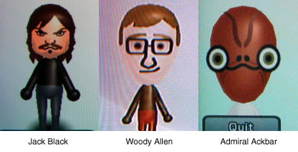 Celebrity Mii Contest Produces Superb Results