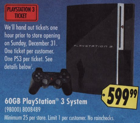 Best Buy selling hoarded PS3s tomorrow morning
