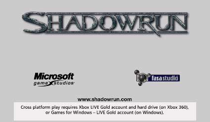 Shadowrun cross-play requires Games for Windows Live Gold