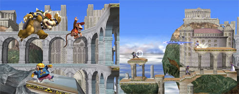 Classic Melee stages returning in Smash Bros  Brawl