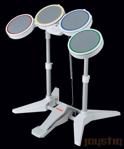 Rock Band Wii drum kit pictured, nagging questions answered