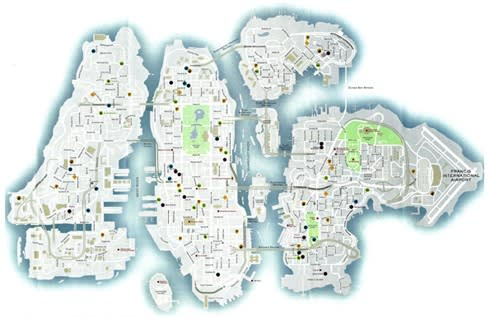Explore Liberty City with Google Map application