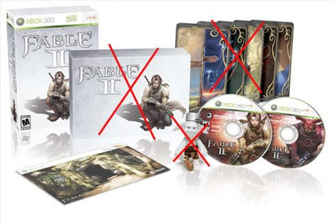 Fable 2 Collector's Edition may be missing DLC card