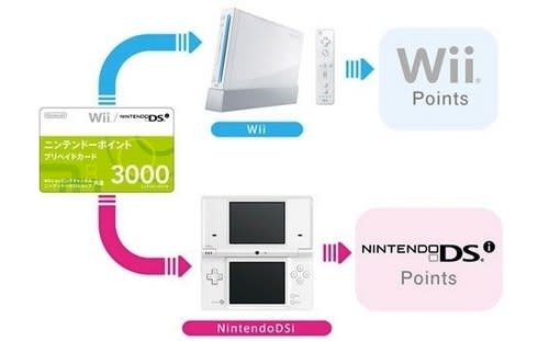 Nintendo points don't transfer between Wii, DSi