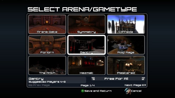 First Quake Arena Arcade screen drops, new level and all
