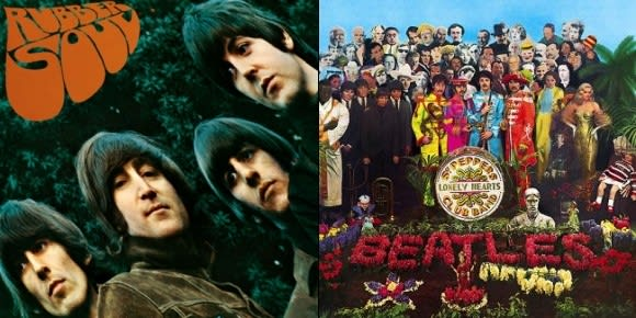 the beatles rock band dlc to include sgt pepper s rubber soul albums